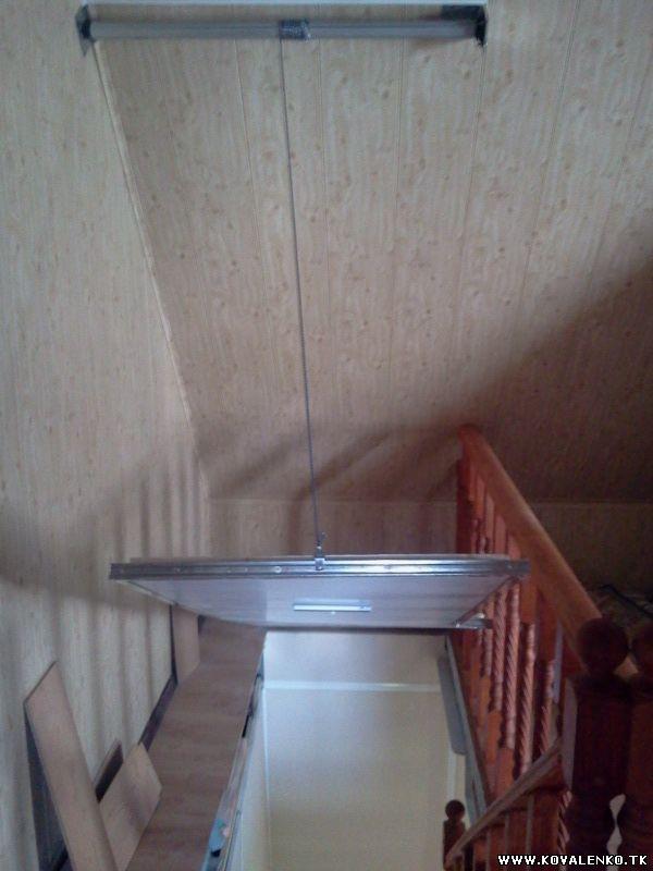 раздвижной люк для проема на второй этаж